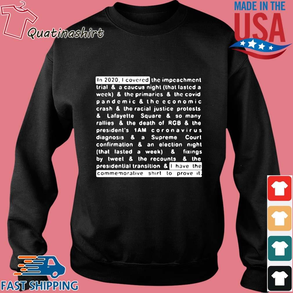 Jim Acosta In 2020 I Covered And I Have The Commemorative Shirt To Prove It Shirt Sweater den
