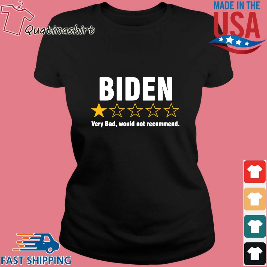 Joe Biden one star very bad would not recommend s Ladies den