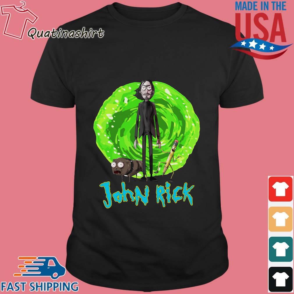 John Rick John Wick Rick And Morty Crossover Shirt