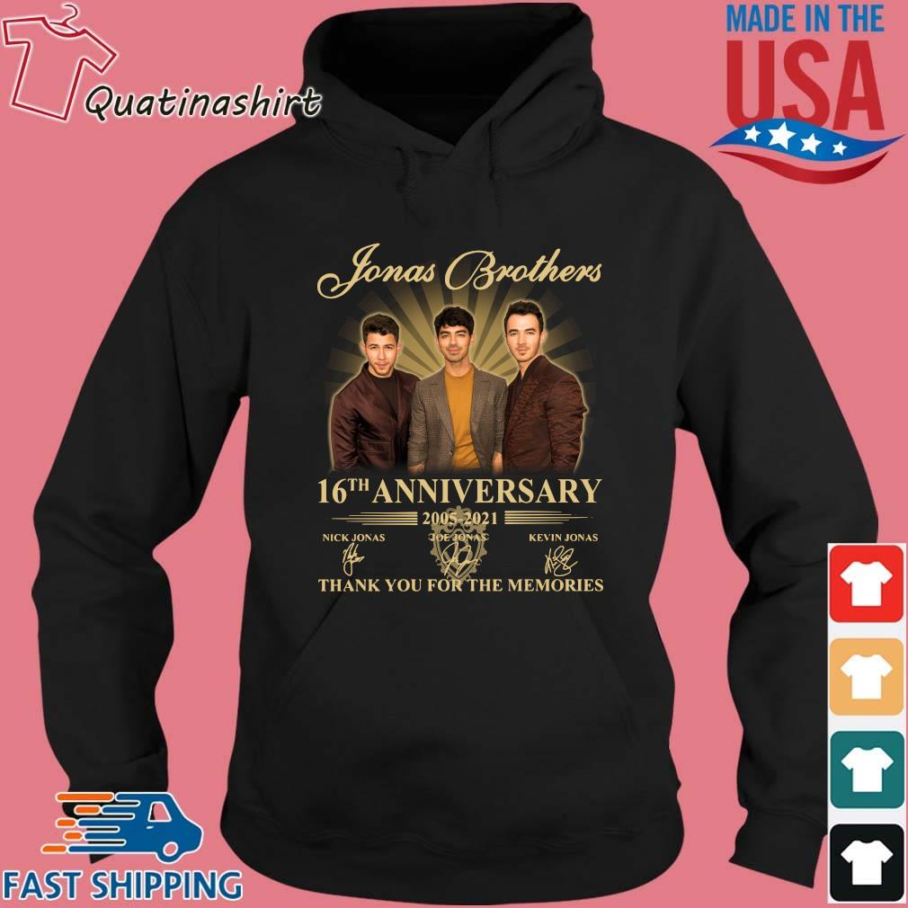 Jonas Brothers 16th Anniversary 2005-2021 Thank You For The Memories Signatures Shirt Hoodie den