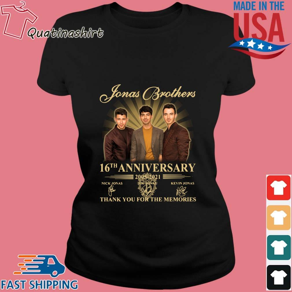 Jonas Brothers 16th Anniversary 2005-2021 Thank You For The Memories Signatures Shirt Ladies den