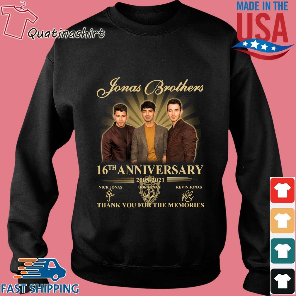 Jonas Brothers 16th Anniversary 2005-2021 Thank You For The Memories Signatures Shirt Sweater den