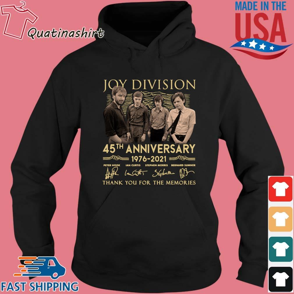 Joy Division 45th Anniversary 1976 2021 Thank You For The Memories Signatures Shirt Hoodie den
