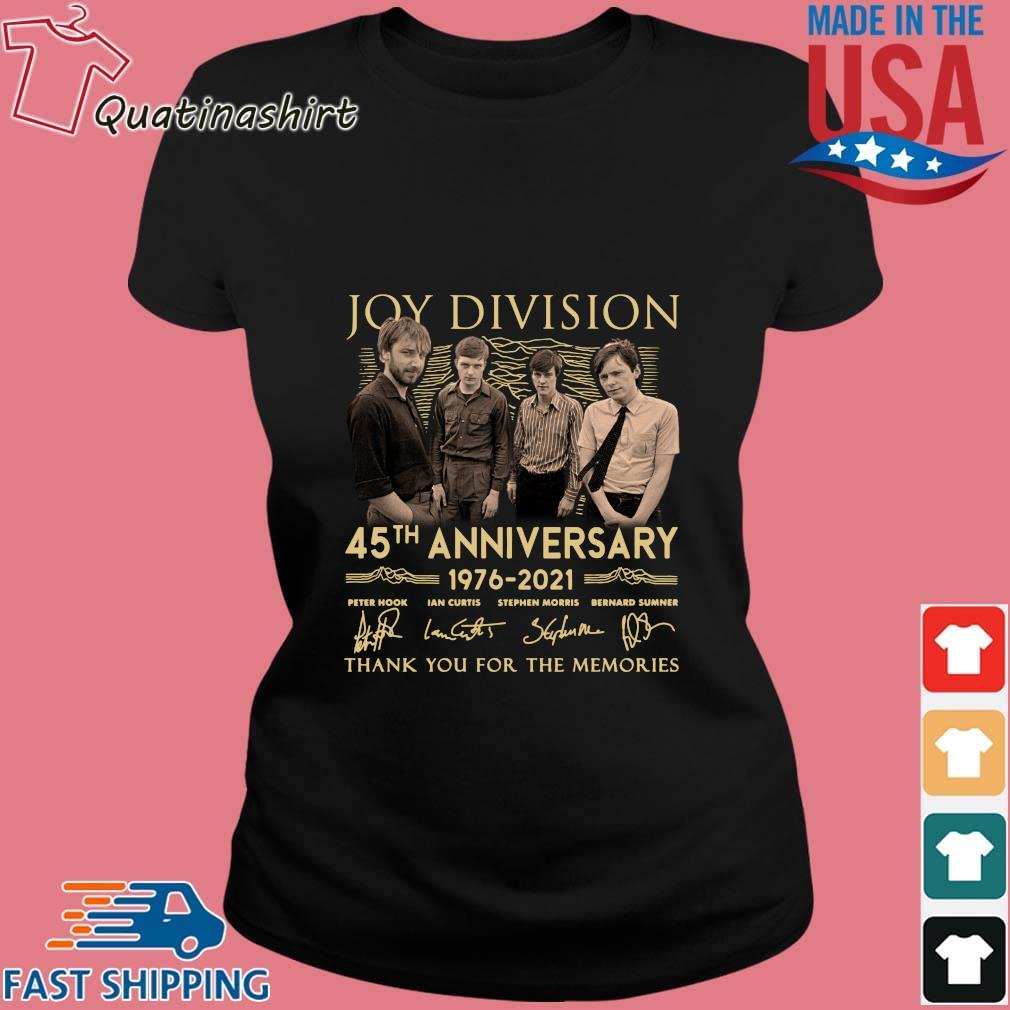 Joy Division 45th Anniversary 1976 2021 Thank You For The Memories Signatures Shirt Ladies den