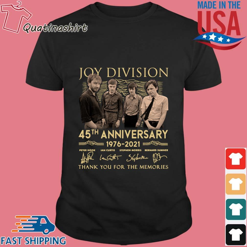 Joy Division 45th Anniversary 1976 2021 Thank You For The Memories Signatures Shirt