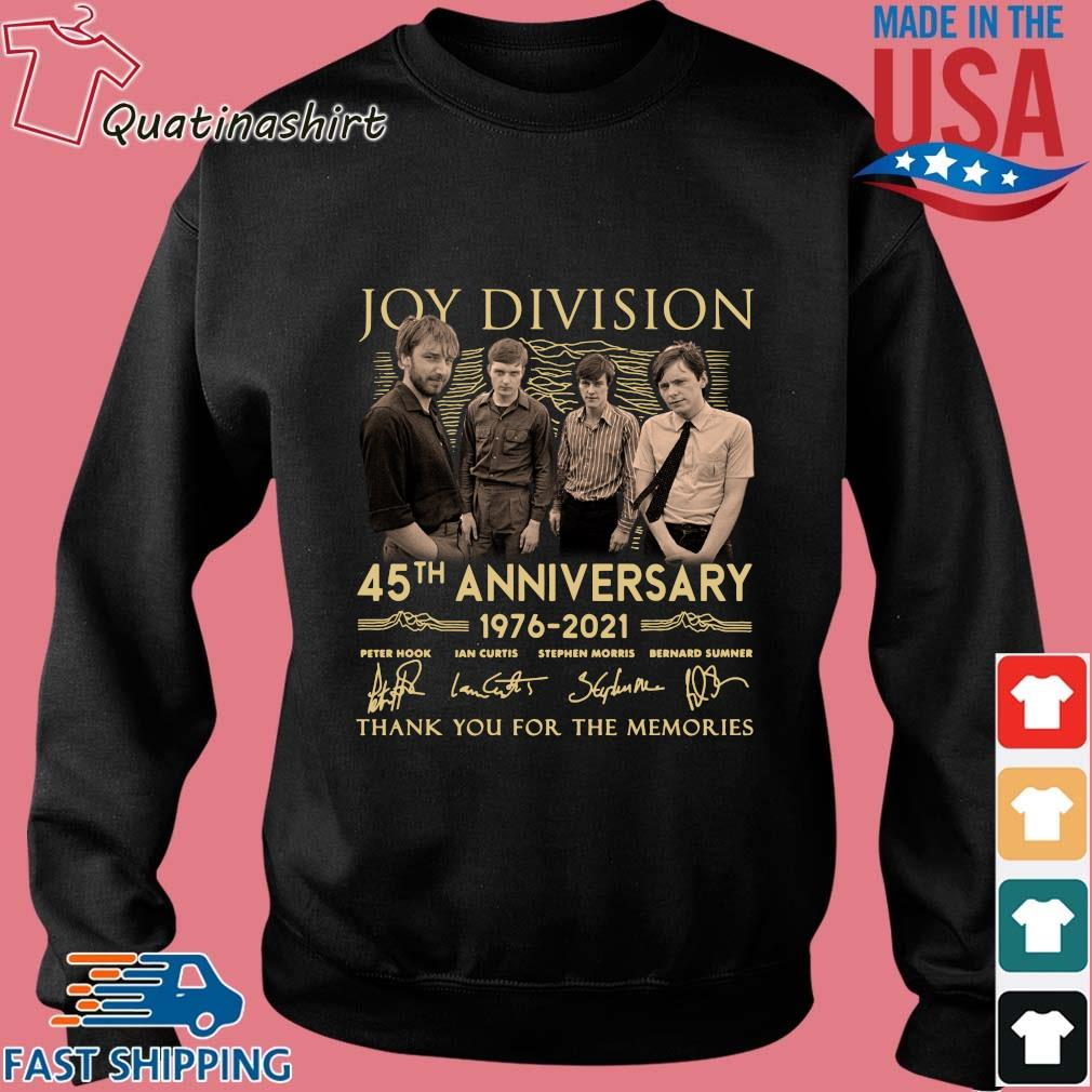 Joy Division 45th Anniversary 1976 2021 Thank You For The Memories Signatures Shirt Sweater den