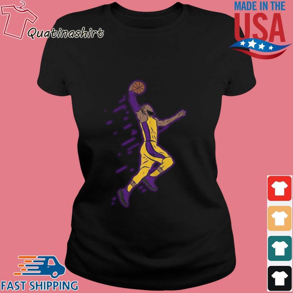 Lebron James Playing Basketball Shirt Ladies den