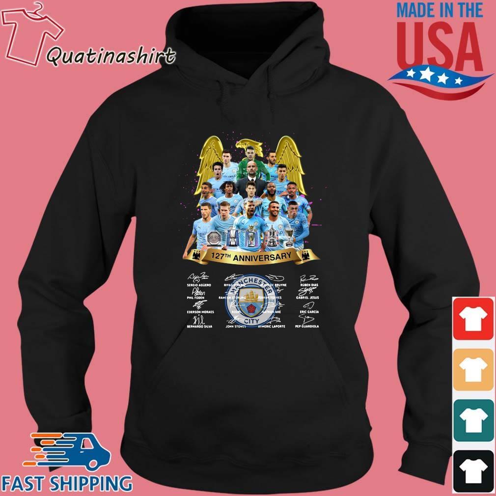 Manchester City 127th Anniversary Signatures Shirt Hoodie den