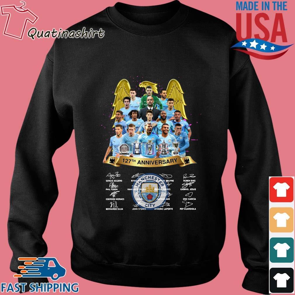 Manchester City 127th Anniversary Signatures Shirt Sweater den