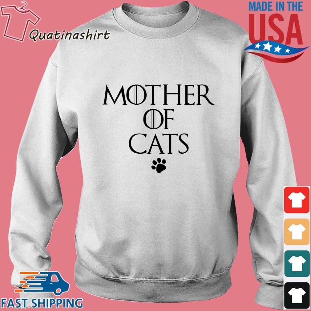 Mother Of Cats Paw Shirt Sweater trang
