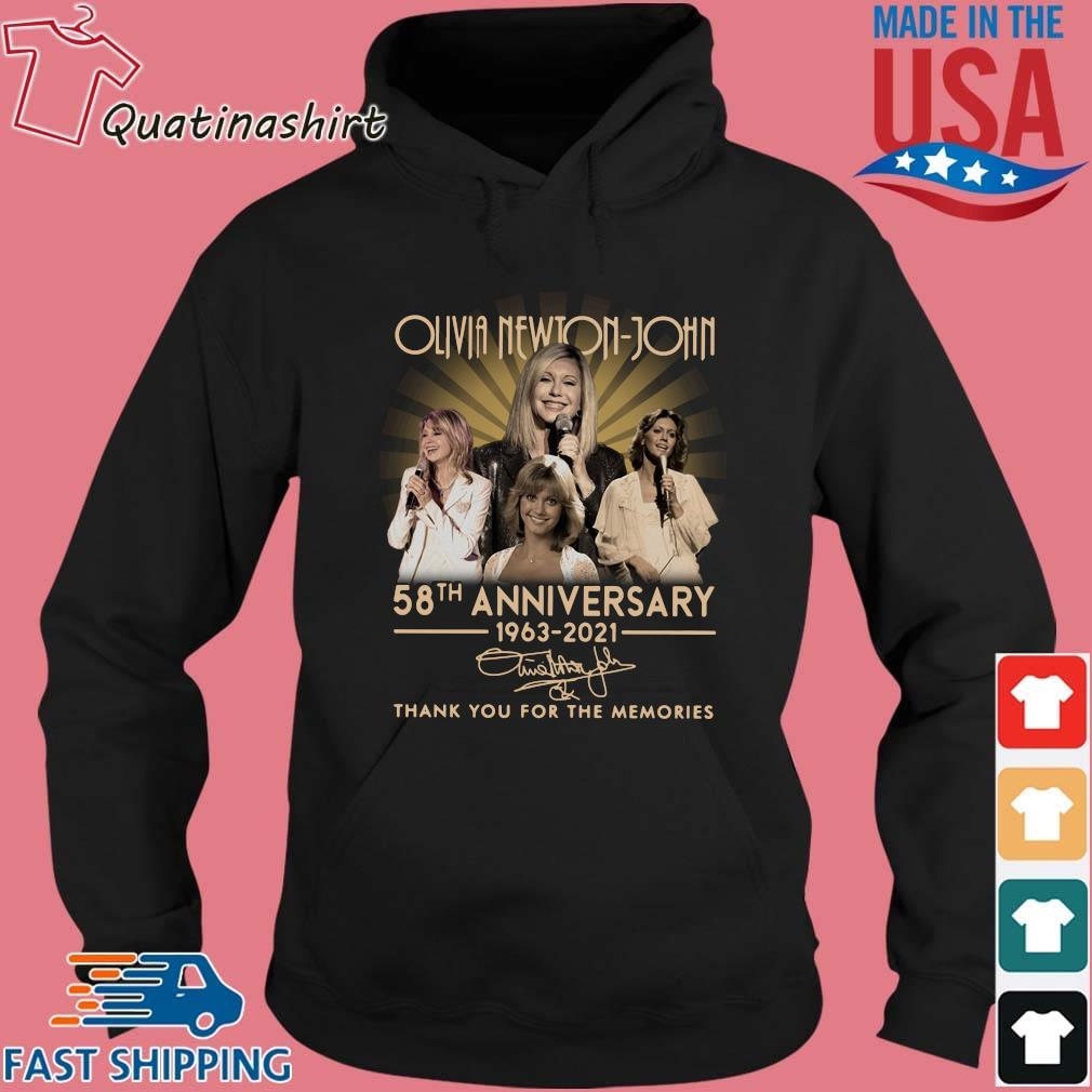 Olivia Newton-john 58th Anniversary 1963-2021 Signatures Thank You Shirt Hoodie den