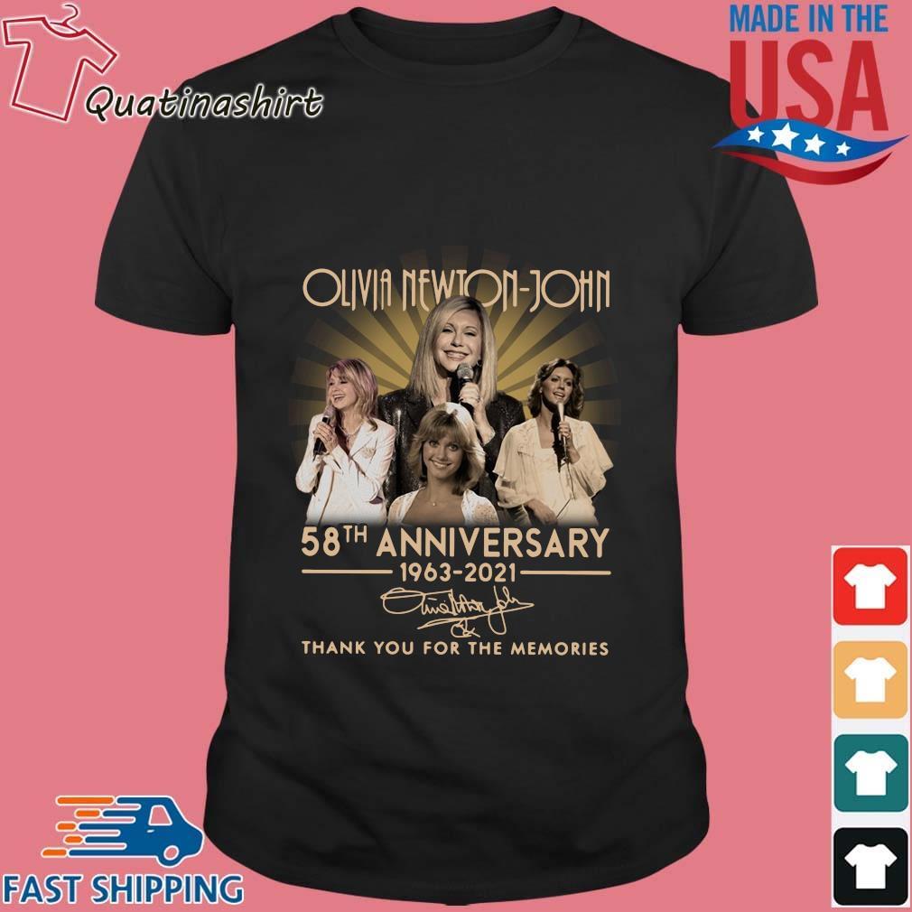 Olivia Newton-john 58th Anniversary 1963-2021 Signatures Thank You Shirt