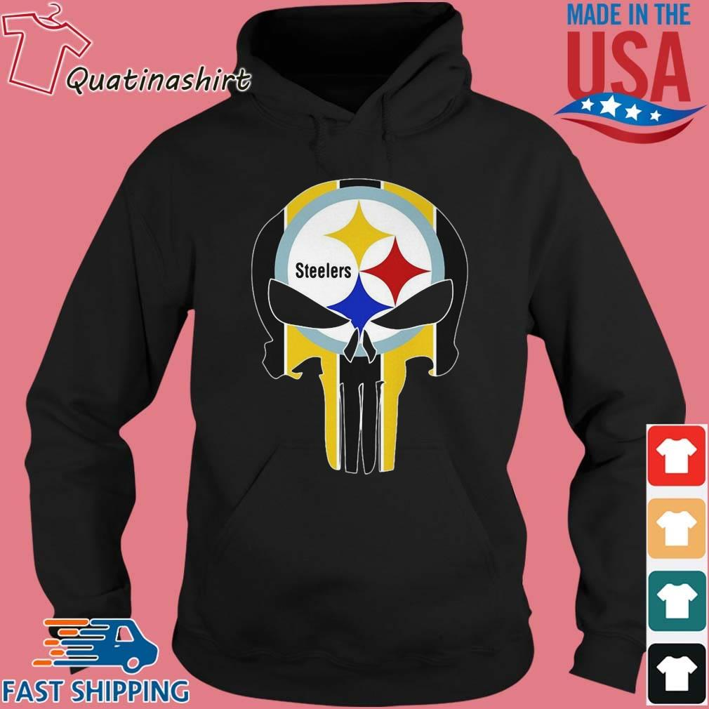 Skull Pittsburgh Steelers Logo Shirt Hoodie den