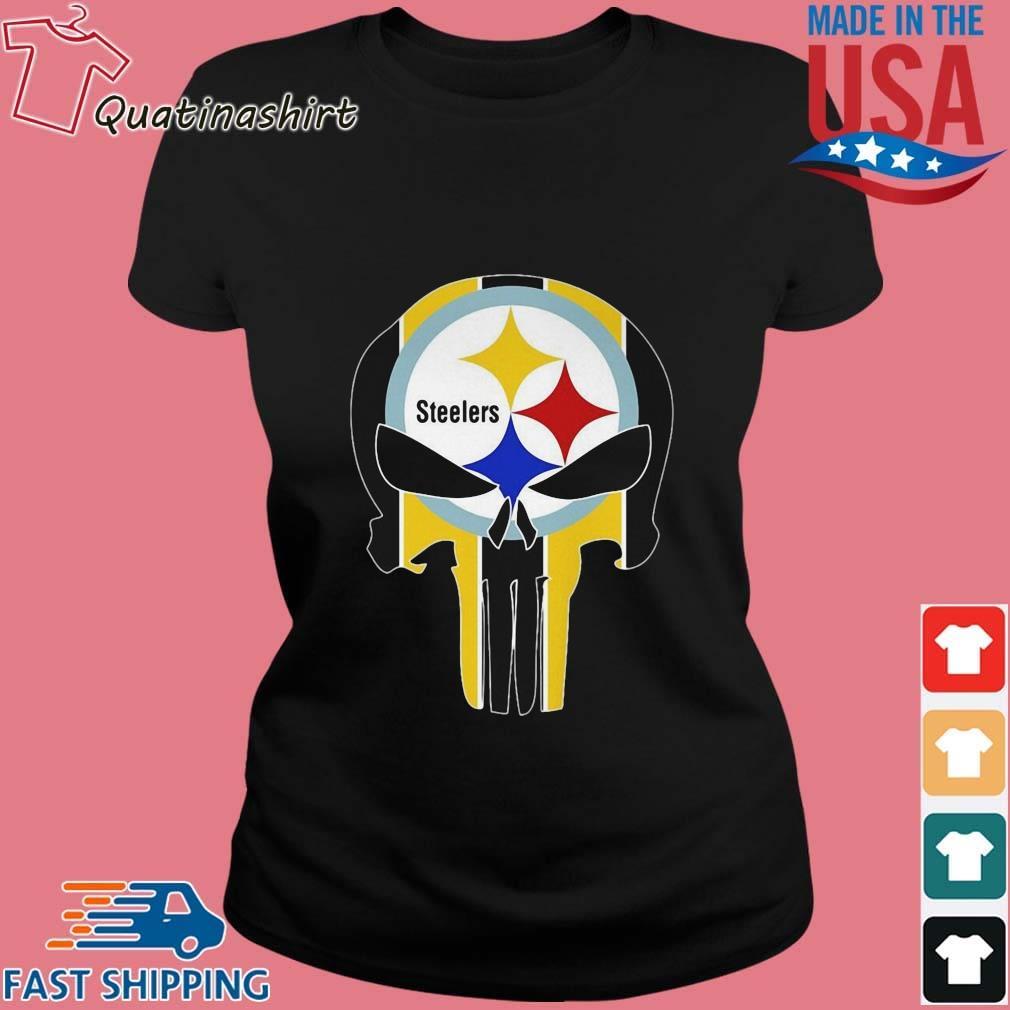 Skull Pittsburgh Steelers Logo Shirt Ladies den