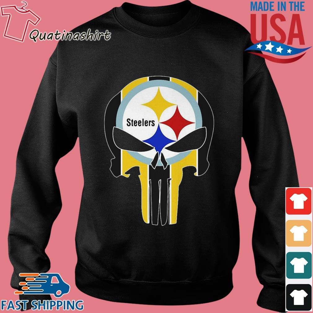 Skull Pittsburgh Steelers Logo Shirt Sweater den