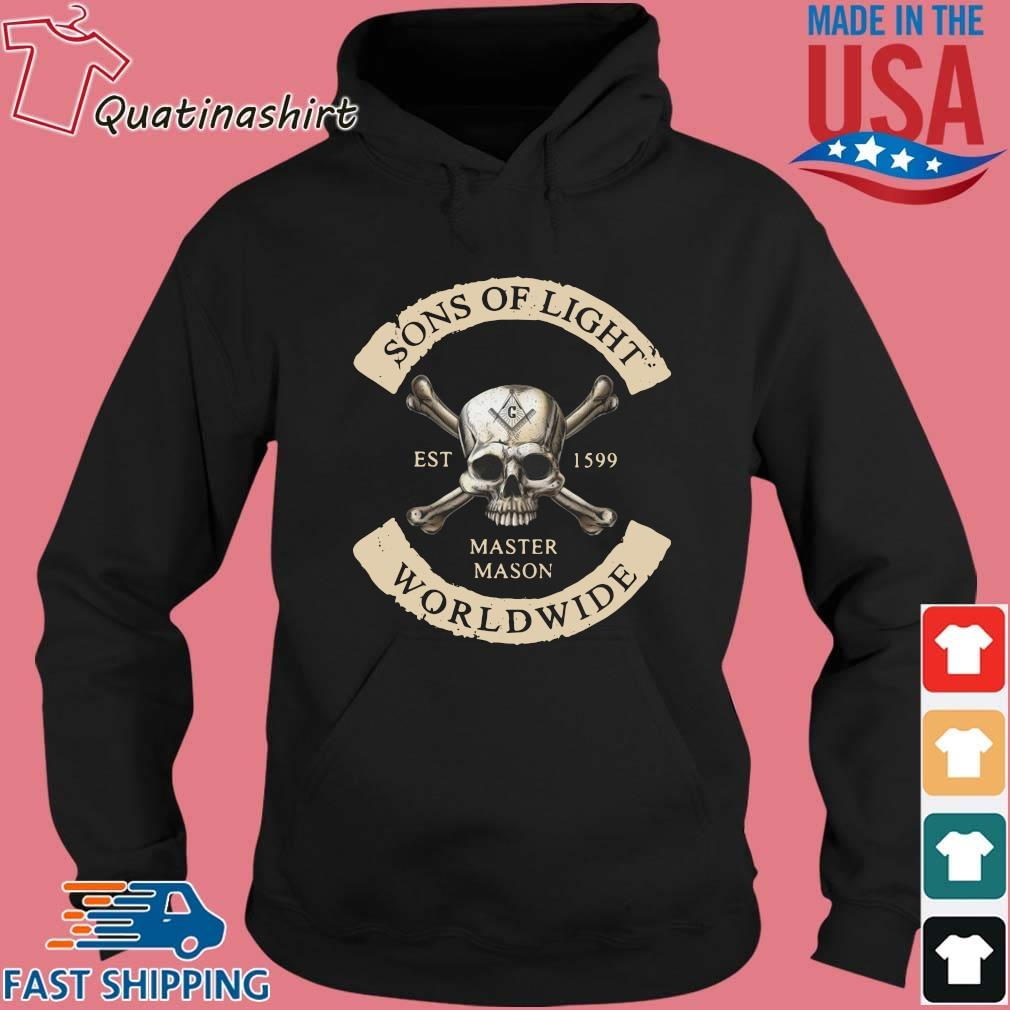 Skull Sons Of Light Est 1599 Master Mason Worldwide Shirt Hoodie den