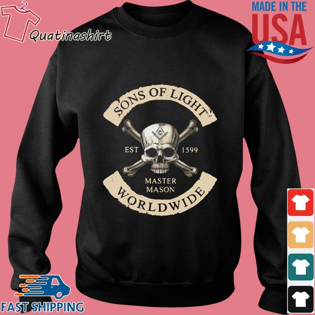 Skull Sons Of Light Est 1599 Master Mason Worldwide Shirt Sweater den