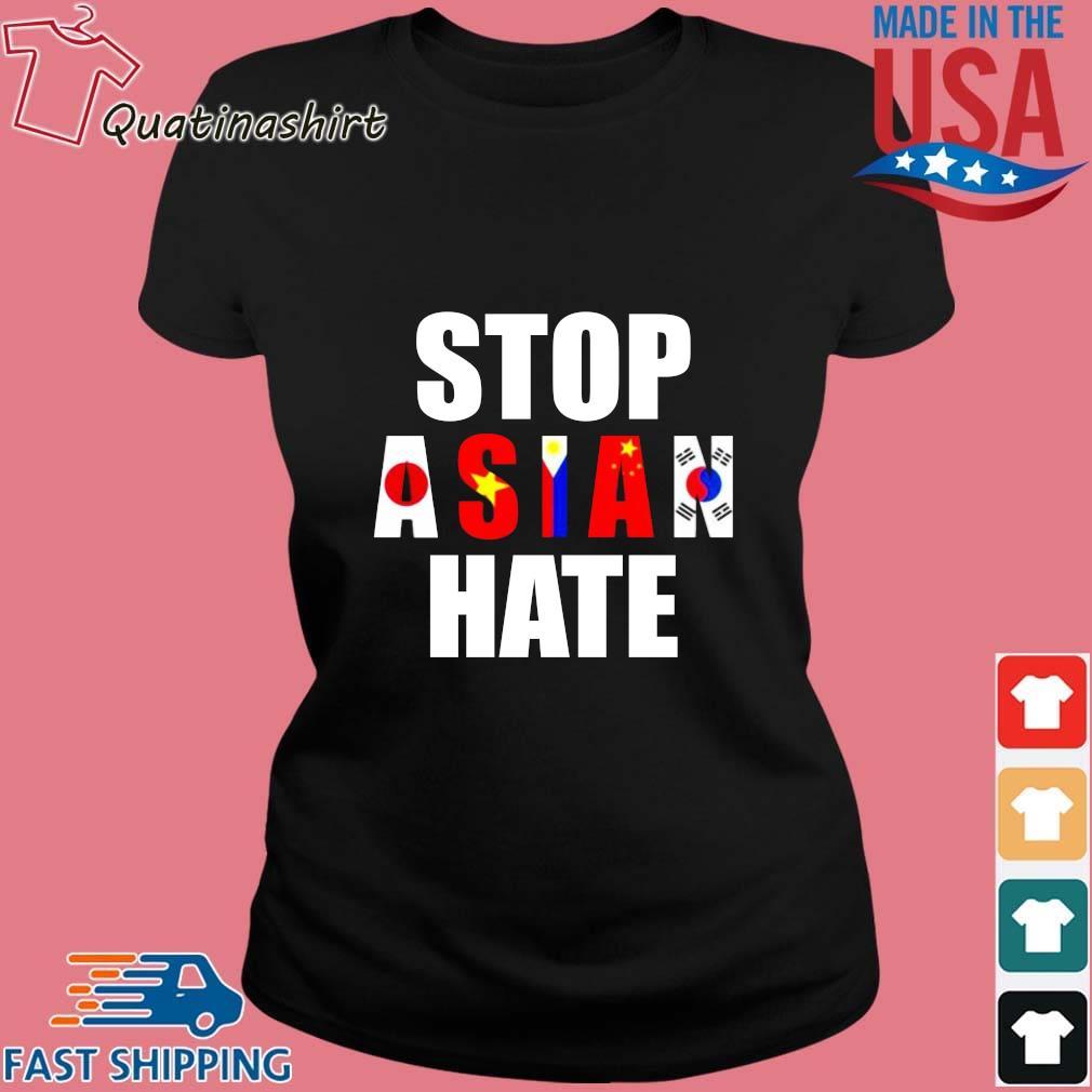 Stop Asian Hate Japan Vietnam Philippin China Korea Shirt Ladies den