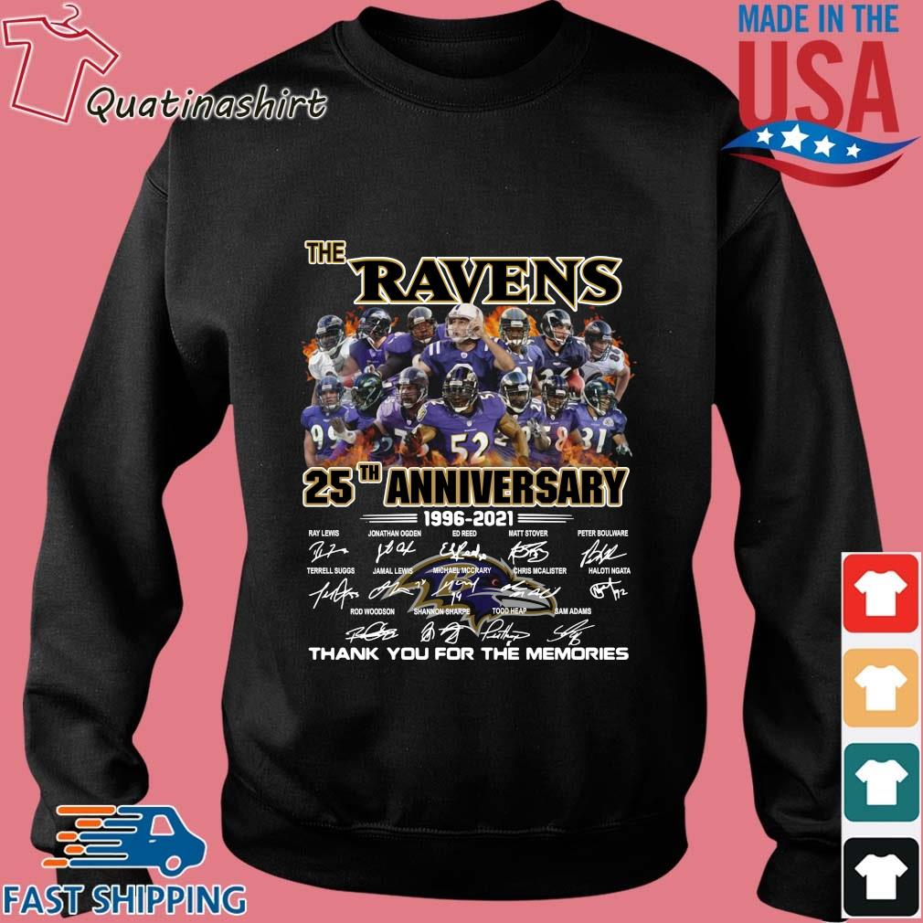The Baltimore Ravens 25th Anniversary 1996-2021 Signatures Thank You Shirt Sweater den