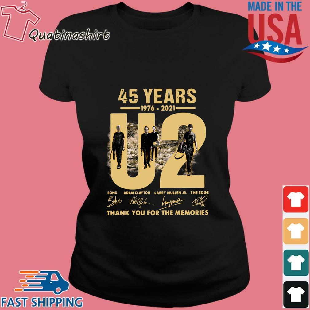 U2 45 years 1976-2021 thank you for the memories signatures s Ladies den