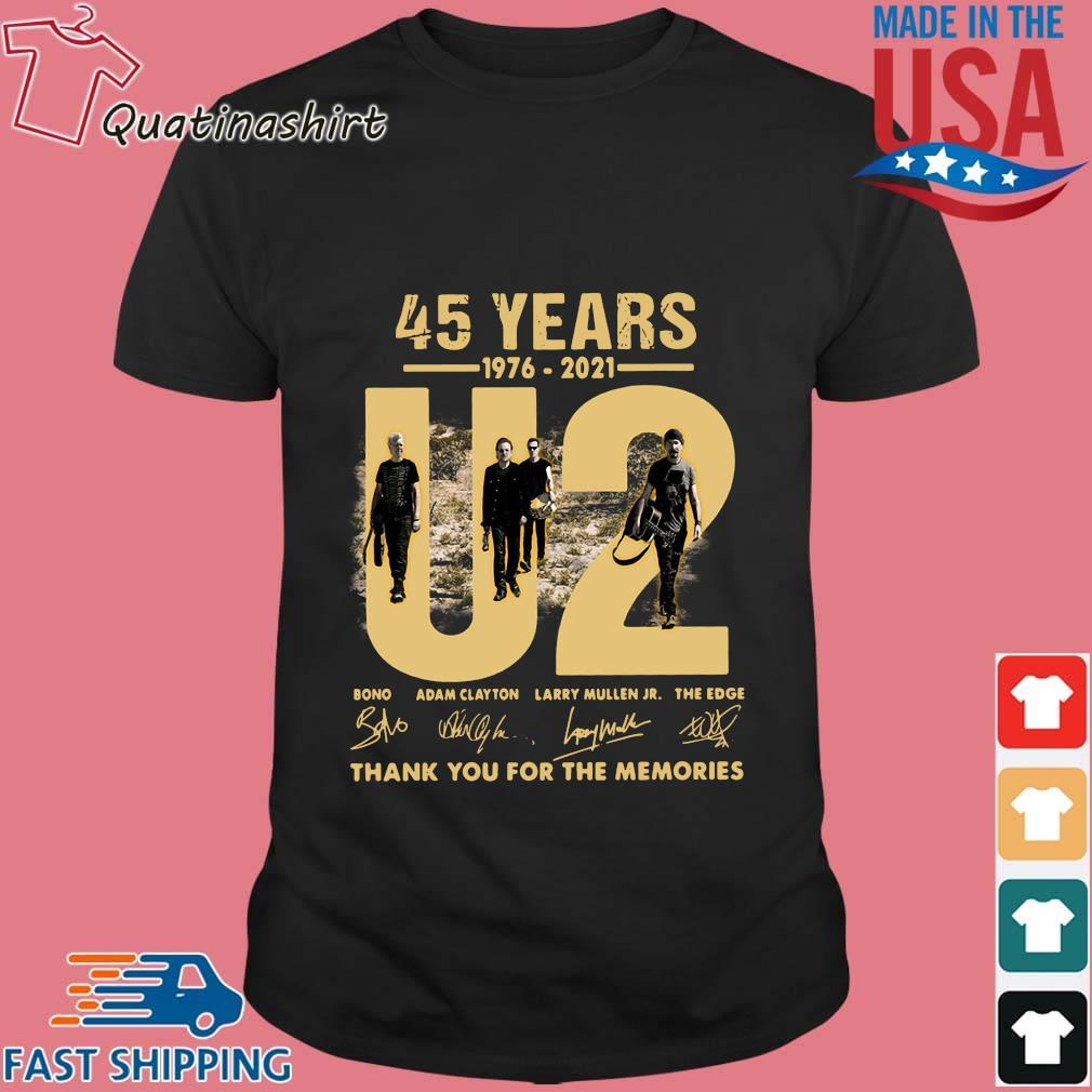 U2 45 years 1976-2021 thank you for the memories signatures shirt