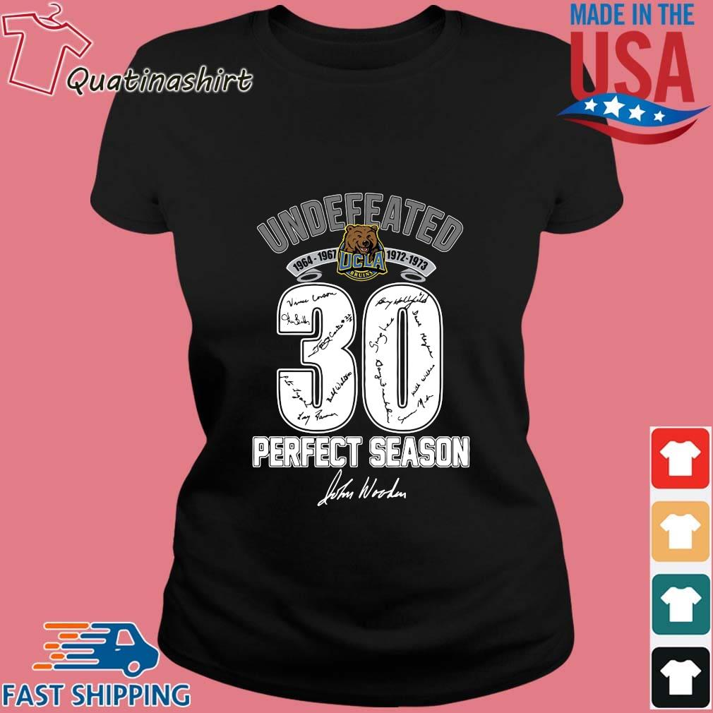 Ucla Bruins Undefeated 1964 1973 30 Perfect Season Signature Shirt Ladies den