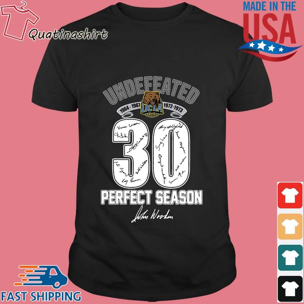 Ucla Bruins Undefeated 1964 1973 30 Perfect Season Signature Shirt