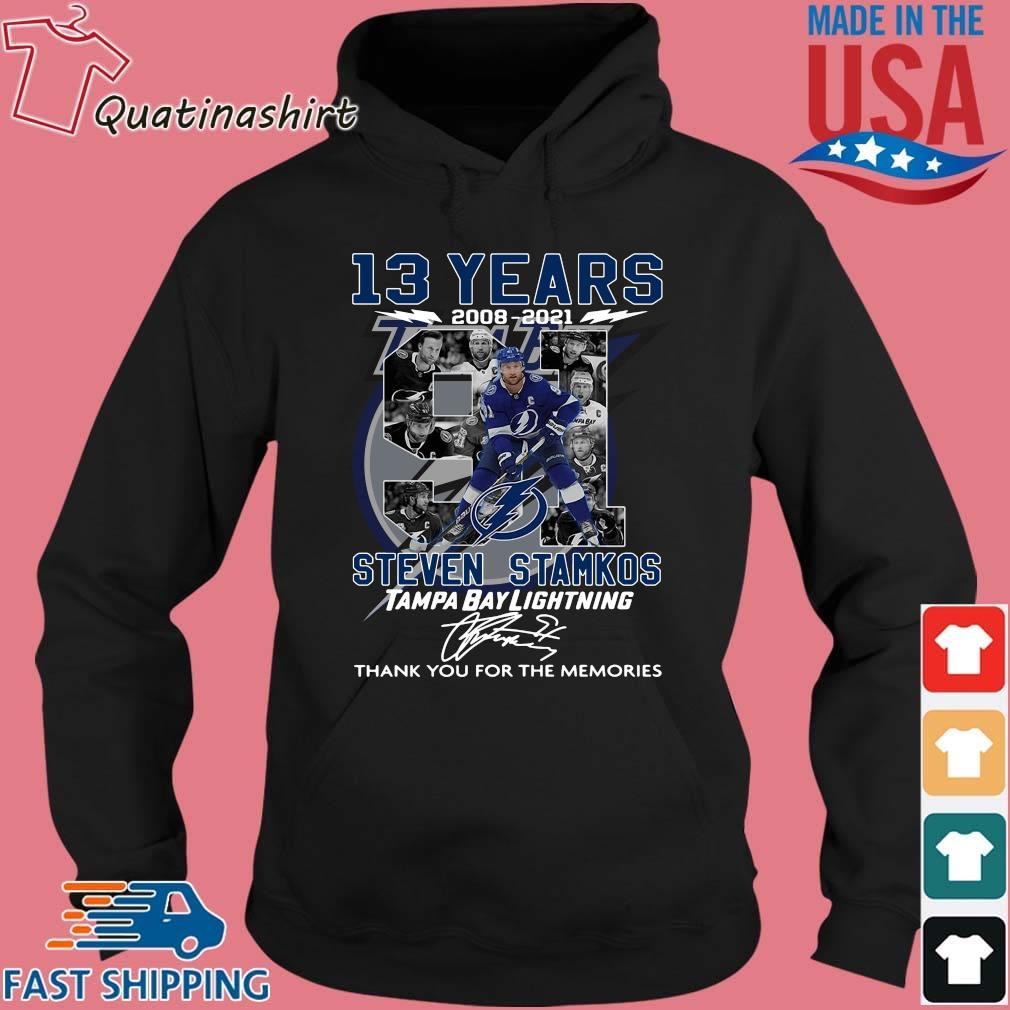 13 years 2008-2021 91 Steven Stamkos Tampa Bay Lightning thank you for the memories signature s Hoodie den