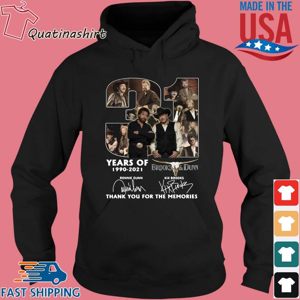 31 Years Of 1990 2021 Brooks And Dunn Signatures Thank You Shirt Hoodie den