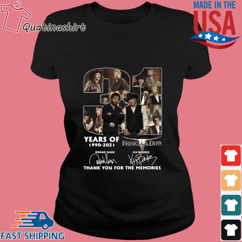 31 Years Of 1990 2021 Brooks And Dunn Signatures Thank You Shirt Ladies den