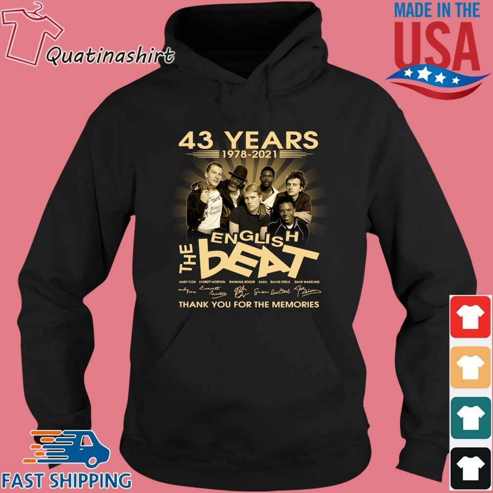43 Years 1978 2021 English The Best Signatures Thank You Shirt Hoodie den
