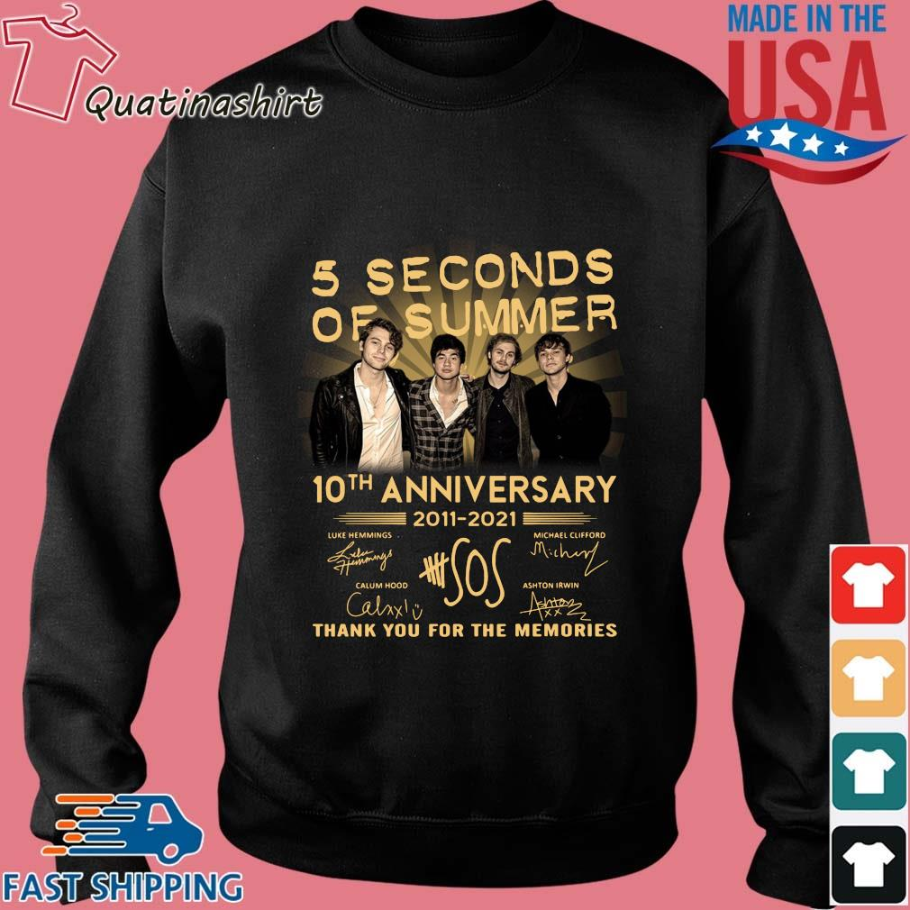 5 Seconds Of Summer 10th Anniversary 2011 2021 Signatures Thank You Shirt Sweater den