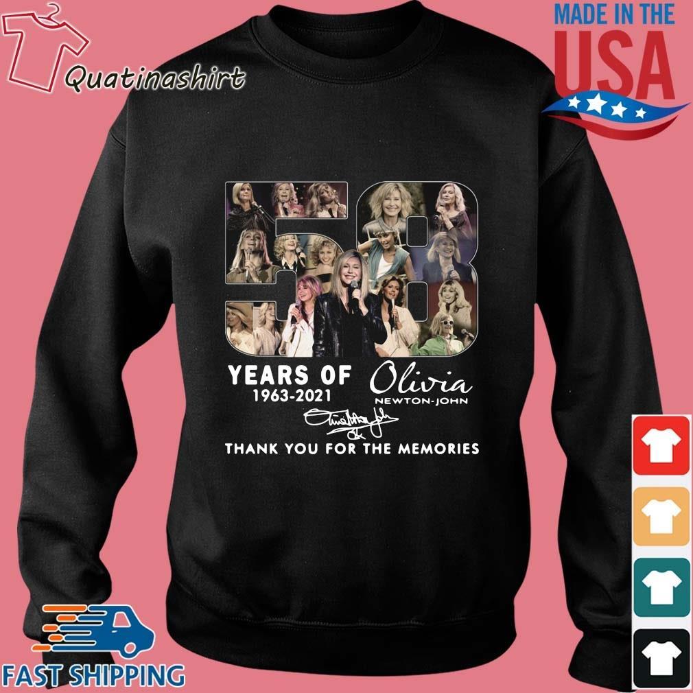 58 Years Of 1963 2021 Olivia Newton-john Signatures Thank You Shirt Sweater den