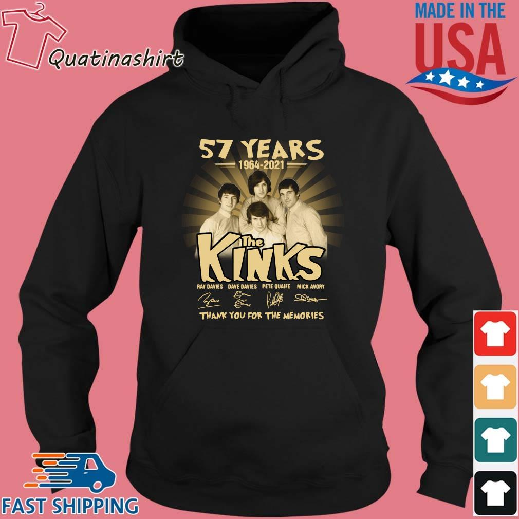 57 years 1964-2021 The Kinks thank you for the memories signatures s Hoodie den