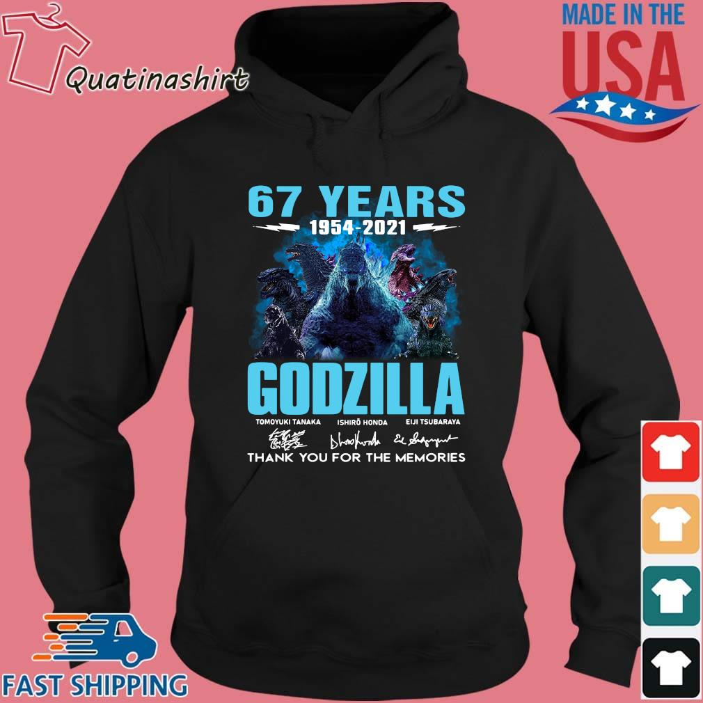 67 years 1954-2021 Godzilla thank you for the memories signatures s Hoodie den