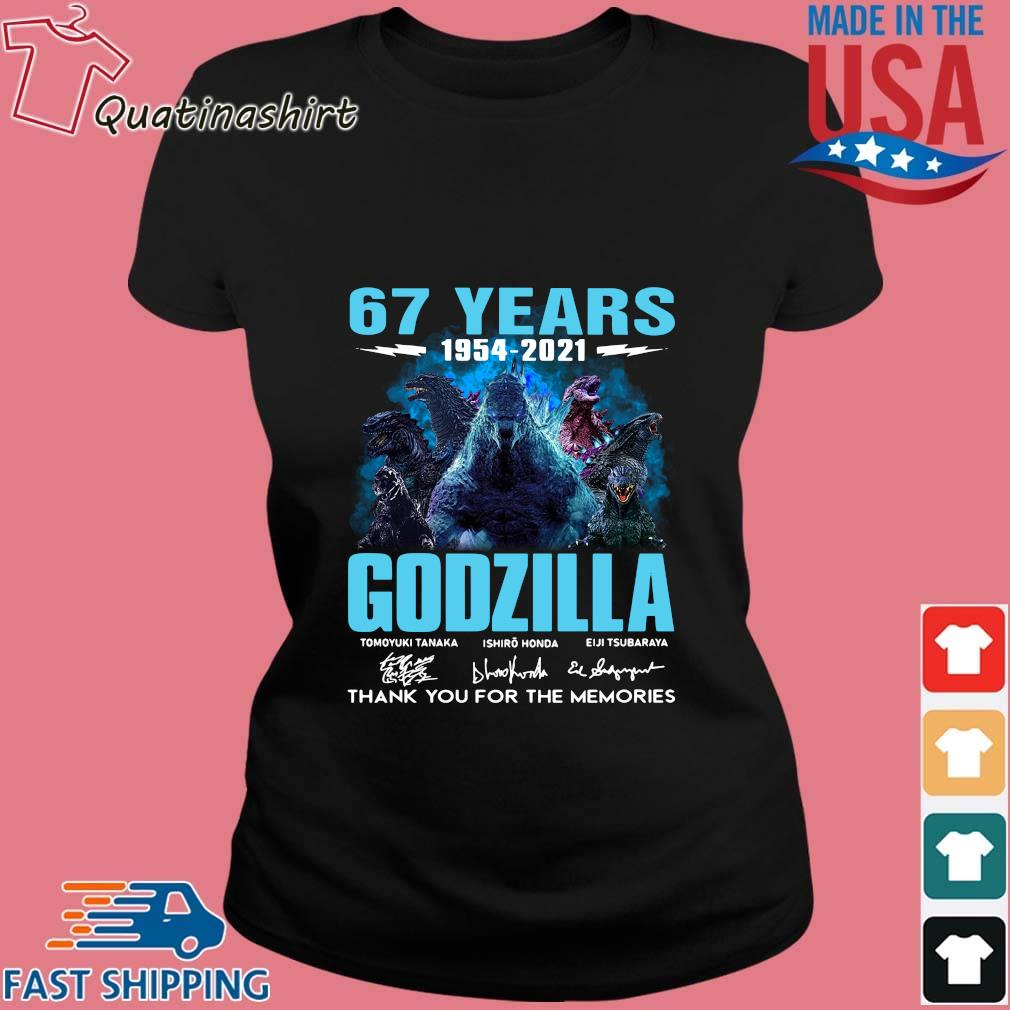 67 years 1954-2021 Godzilla thank you for the memories signatures s Ladies den