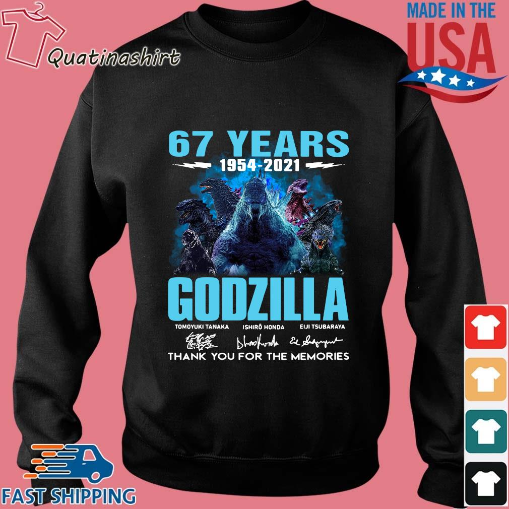 67 years 1954-2021 Godzilla thank you for the memories signatures s Sweater den