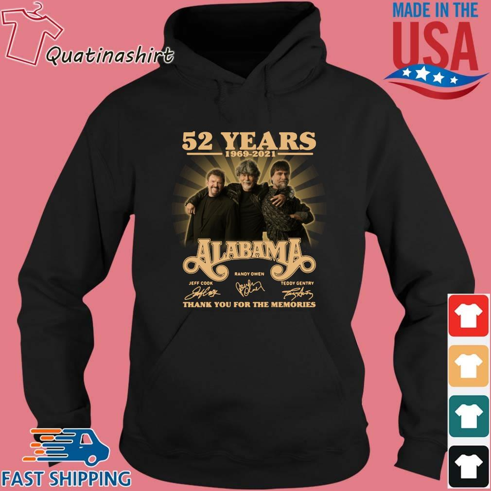 52 years 1969-2021 Alabama thank you for the memories signatures s Hoodie den