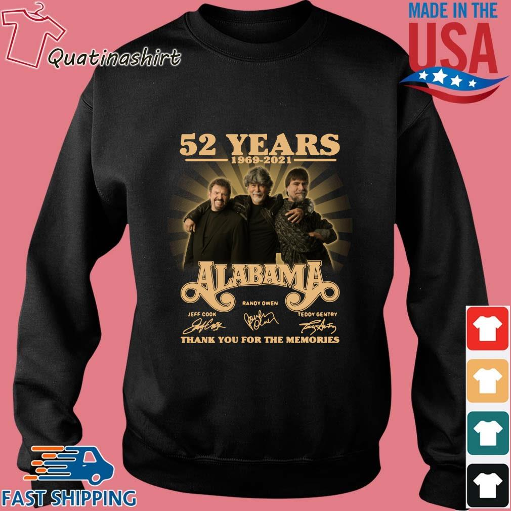 52 years 1969-2021 Alabama thank you for the memories signatures s Sweater den