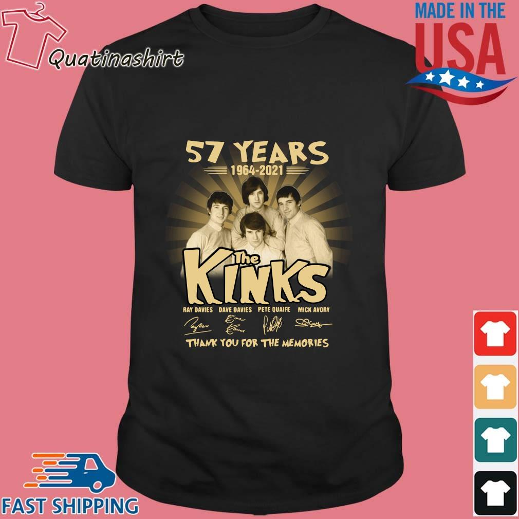 57 years 1964-2021 The Kinks thank you for the memories signatures shirt