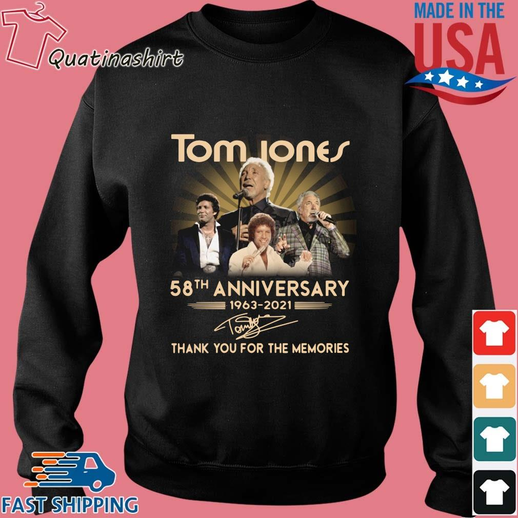 Tom Jones 58th anniversary 1963-2021 thank you for the memories signature s Sweater den