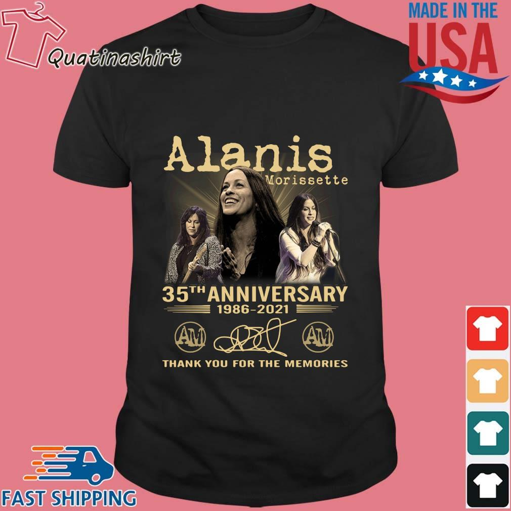 Alanis Morissette 35th Anniversary 1986-2021 Thank You Shirt