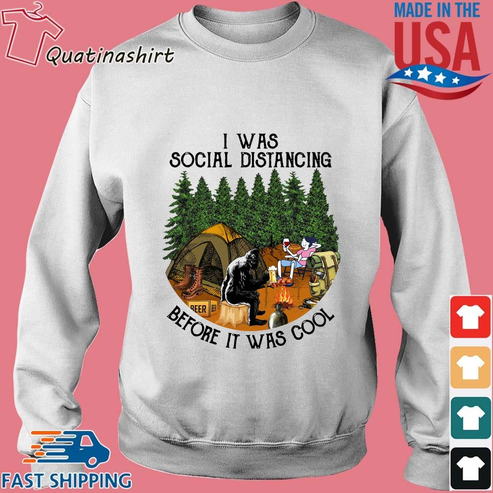 Bigfoot I was social distancing before it was cool camping s Sweater trang