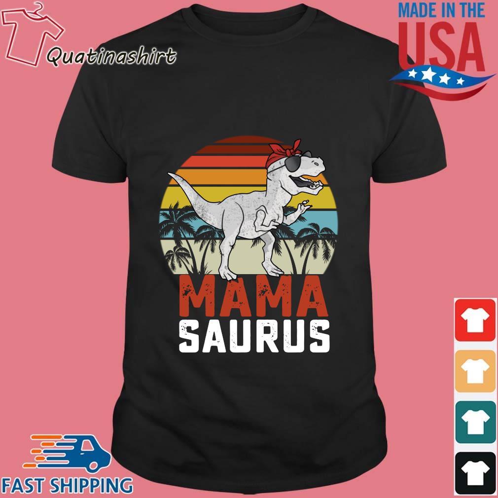 Dinosaurus T-Rex Mama Saurus Vintage Sunset Shirt
