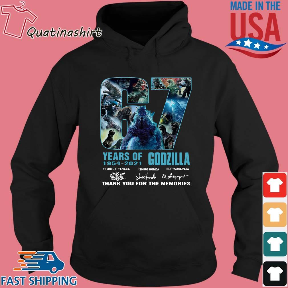 Godzilla 67 years of 1954-2021 thank you for the memories signatures s Hoodie den