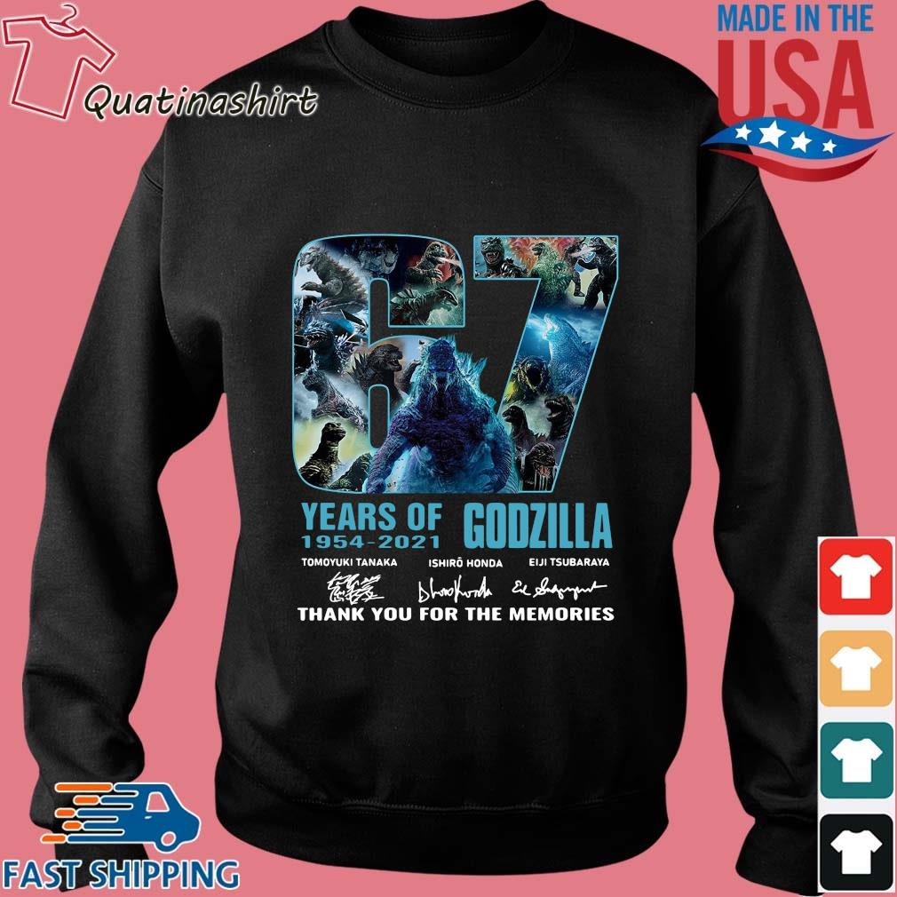 Godzilla 67 years of 1954-2021 thank you for the memories signatures s Sweater den