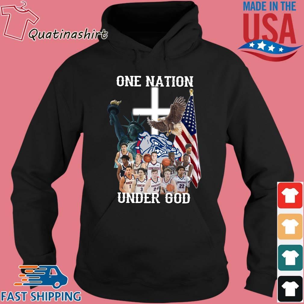 Gonzaga Bulldogs one nation under god s Hoodie den
