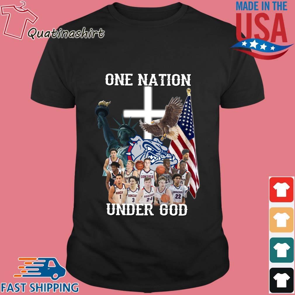 Gonzaga Bulldogs one nation under god shirt