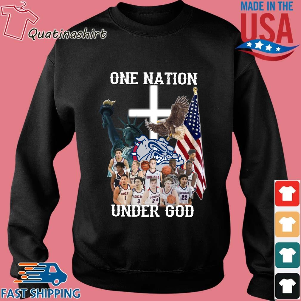 Gonzaga Bulldogs one nation under god s Sweater den