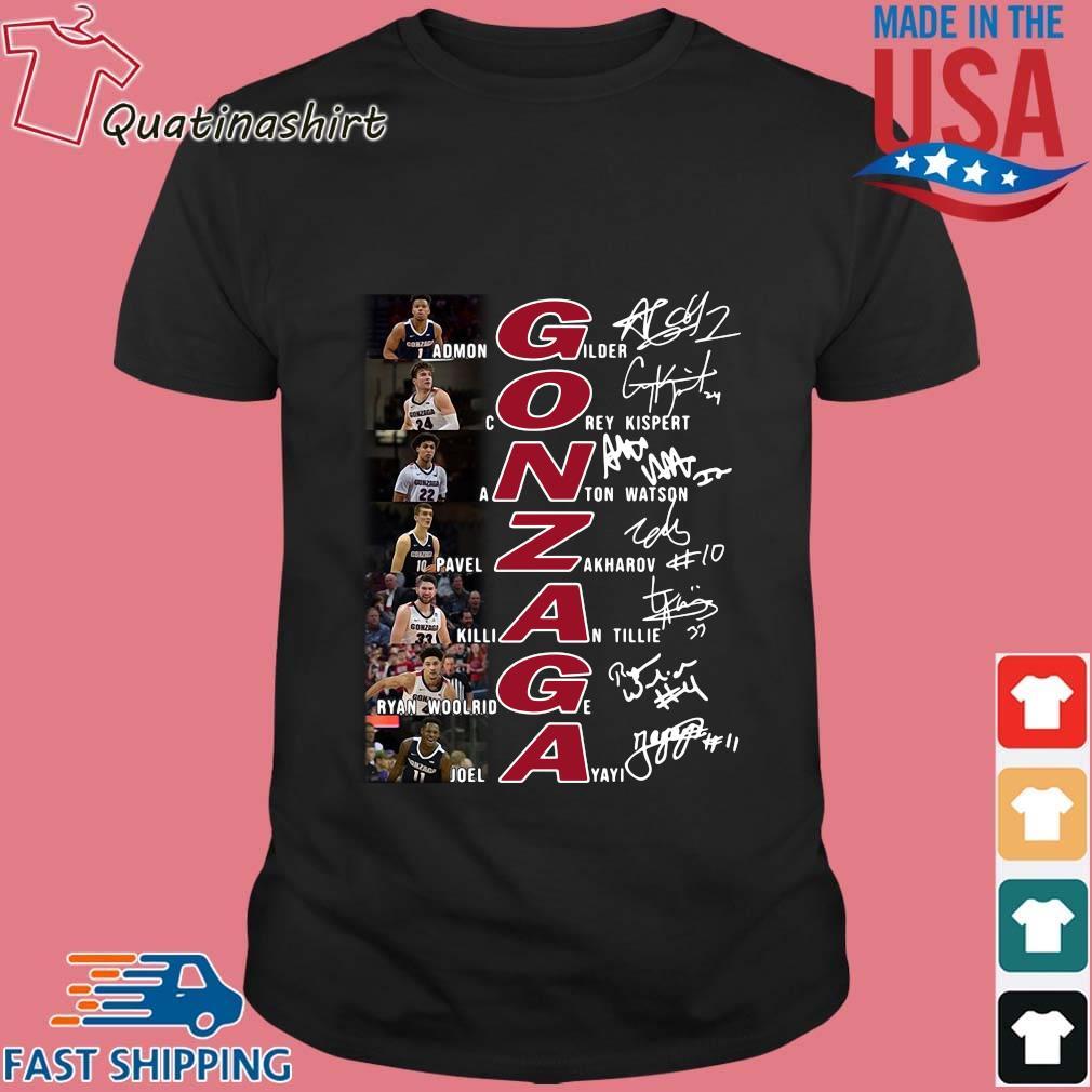 Gonzaga Bulldogs Team Players Signatures Shirt